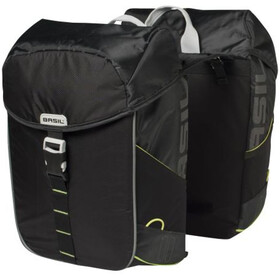 Basil Miles Luggage Carrier Double Bag 32L, black lime